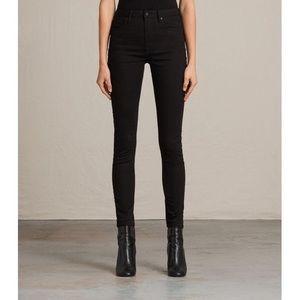 All saints Stilt Black Jeans, Size 28